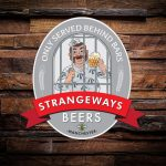 printed die cut beer pump clip - strangeways beers